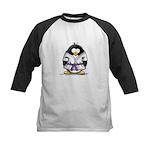 Martial Arts purple belt peng Kids Baseball Jersey
