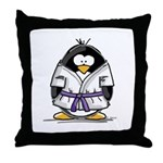 Martial Arts purple belt peng Throw Pillow