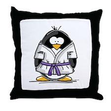 Martial Arts purple belt peng Throw Pillow