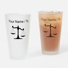 Custom Scale Of Justice Drinking Glass