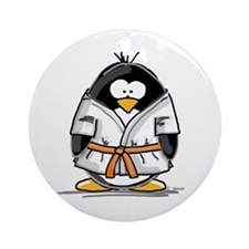 Martial Arts orange belt peng Ornament (Round)