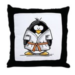 Martial Arts orange belt peng Throw Pillow