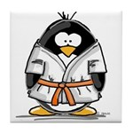 Martial Arts orange belt peng Tile Coaster