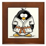 Martial Arts orange belt peng Framed Tile
