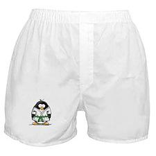 Martial Arts green belt pengu Boxer Shorts