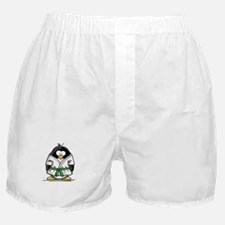 Martial Arts green belt pengu Boxer Shorts