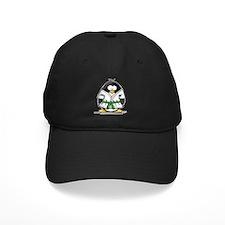 Martial Arts green belt pengu Baseball Hat