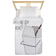 Who's Up For Takeout? Twin Duvet