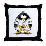 Martial Arts gold belt pengui Throw Pillow
