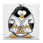 Martial Arts gold belt pengui Tile Coaster