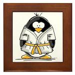 Martial Arts gold belt pengui Framed Tile