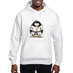 Martial Arts brown belt pengu Hooded Sweatshirt