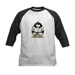 Martial Arts brown belt pengu Kids Baseball Jersey