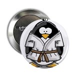 Martial Arts brown belt pengu Button