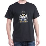 Martial Arts blue belt pengui Dark T-Shirt