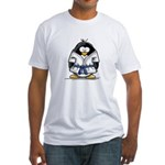 Martial Arts blue belt pengui Fitted T-Shirt
