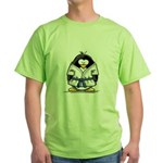 Martial Arts blue belt pengui Green T-Shirt