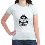 Martial Arts blue belt pengui Jr. Ringer T-Shirt