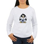 Martial Arts blue belt pengui Women's Long Sleeve