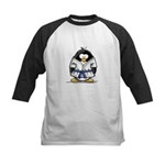 Martial Arts blue belt pengui Kids Baseball Jersey
