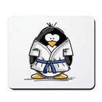 Martial Arts blue belt pengui Mousepad