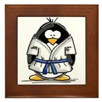 Martial Arts blue belt pengui Framed Tile