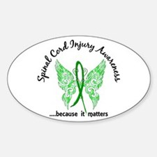 Spinal Cord Injury Butterfly 6.1 Sticker (Oval)