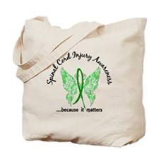 Spinal Cord Injury Butterfly 6.1 Tote Bag