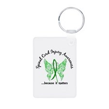 Spinal Cord Injury Butterf Keychains