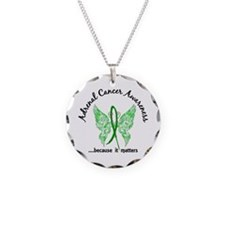Adrenal Cancer Butterfly 6.1 Necklace