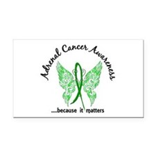 Adrenal Cancer Butterfly 6.1 Rectangle Car Magnet