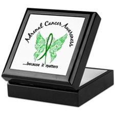 Adrenal Cancer Butterfly 6.1 Keepsake Box