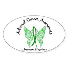 Adrenal Cancer Butterfly 6.1 Decal