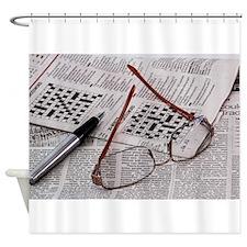 Crossword Genius Shower Curtain