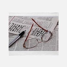 Crossword Genius Throw Blanket