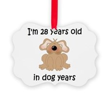 4 dog years 5 - 2 Ornament