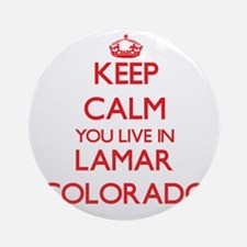Keep calm you live in Lamar Color Ornament (Round)