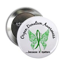 "Organ Donation Butterfly 6. 2.25"" Button (10 pack)"