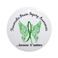 TBI Butterfly 6.1 Ornament (Round)