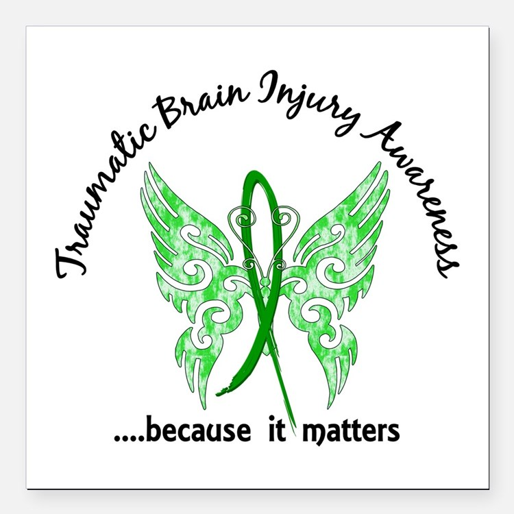 "TBI Butterfly 6.1 Square Car Magnet 3"" x 3"""
