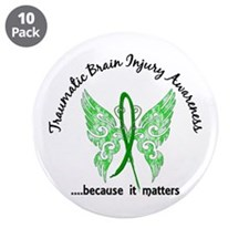 """TBI Butterfly 6.1 3.5"""" Button (10 pack)"""