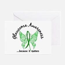 Glaucoma Butterfly 6.1 Greeting Card