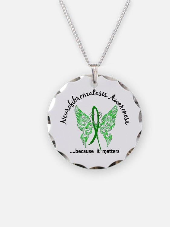 Neurofibromatosis Butterfly Necklace