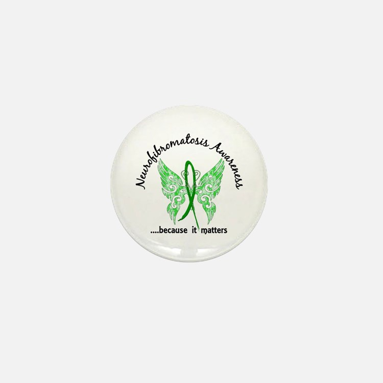 Neurofibromatosis Butterfly 6.1 Mini Button