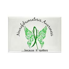Neurofibromatosis Butterfly 6.1 Rectangle Magnet