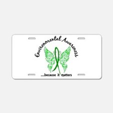 Environmental Butterfly 6.1 Aluminum License Plate