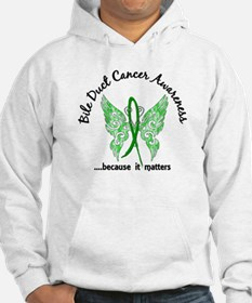 Bile Duct Cancer Butterfly 6.1 Hoodie