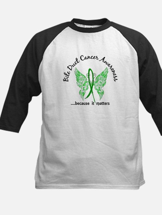Bile Duct Cancer Butterfly 6. Kids Baseball Jersey