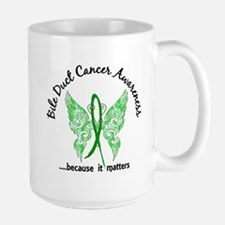 Bile Duct Cancer Butterfly 6.1 Large Mug