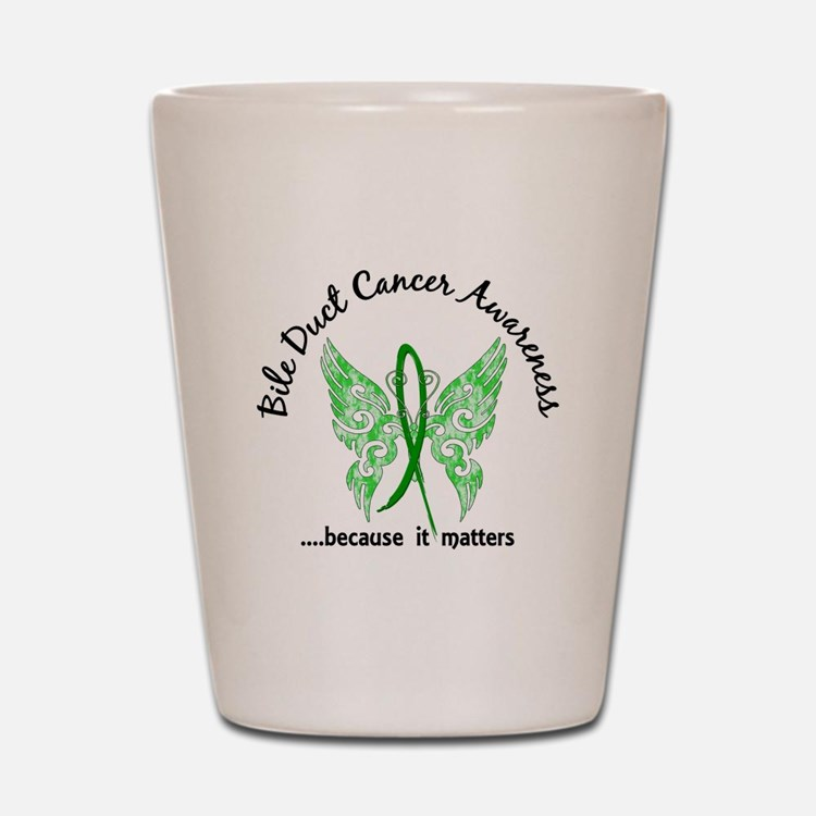 Bile Duct Cancer Butterfly 6.1 Shot Glass